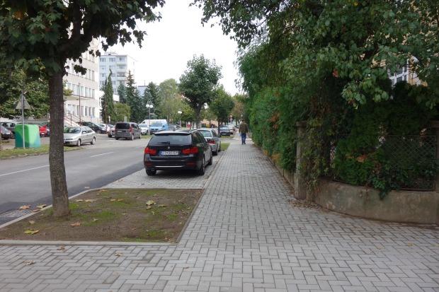 chodník Študentská ul.